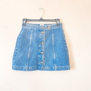 Urban Outfitters Light Wash Button Up Skirt XS